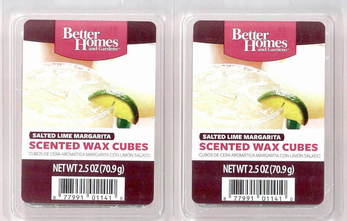 Salted lime margarita better homes and gardens scented wax for Better homes and gardens scented wax cubes