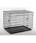 "Portable Travel 48"" Pet Folding Dog Cat Crate Cage Kennel w/ABS Tray  - $59.81"