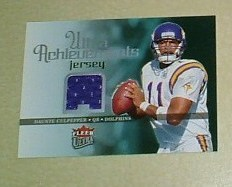 Daunte Culpepper Game Used Jersey card Detroit Lions NFL