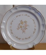 Cordella Collection Dinner Plate Beige White Fl... - $9.99