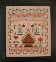 Judith Le Lacheur 1836  sampler cross stitch chart Samplers Revisited - $13.50