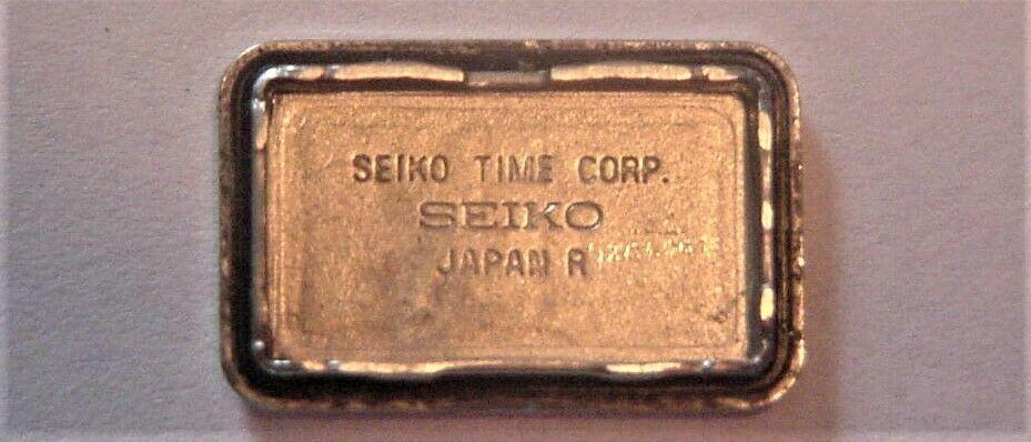 Seiko Women's Watch Black Dial Japan 2E20-7028 gold-tone bezel and band