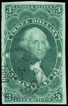R86a, Used XF $3 Manifest Revenue Stamp Cat $200.00+ - Stuart Katz - $160.00
