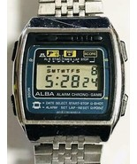 Vintage SEIKO ALBA Game Watch Y760-5000 New Battery Confirmed Operation ... - $94.75