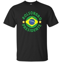 Bolsonaro Presidente Vote 2018 Bolsomito Brazil Flag Mens Short Sleeve T Shirts - $20.74+