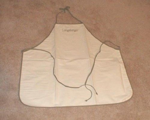 Primary image for Longaberger Apron Sage Green & Oatmeal Color Cotton Fabric New In Bag