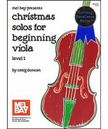 Christmas Solos For Beginning Viola  - $9.99