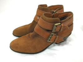 Sam Edelman Women's Chelsea Ankle Booties Boot Shoes Tan Suede Leather S... - $32.62