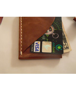 Slim Leather Wallet, Leather Card Case, Credit Card Holder, Mens Slim Wa... - $19.00