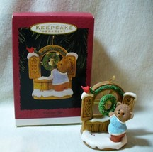Hallmark 1996 Tender Touches Welcome Sign Ornament - $12.95
