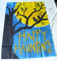 Halloween Happy Haunting Garden Flag NEW - £16.48 GBP