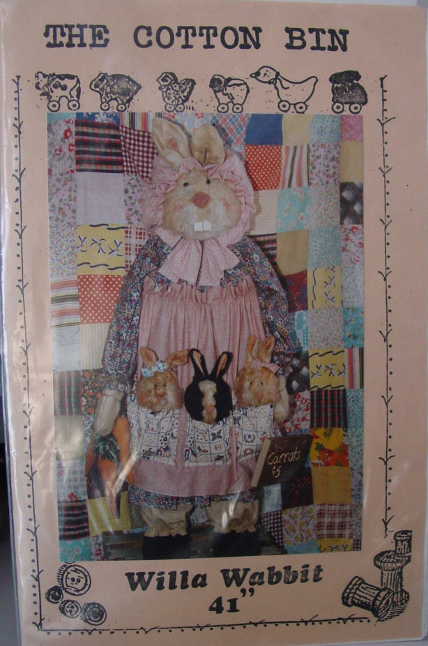 "Primary image for Wood based Rabbit Pattern Willa Wabbit 41"" Folkart"