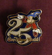 Walt Disney World Sorcerer Mickey 25th Anniversary Pin - $15.95