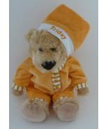 FAO Schwartz Sleepy Time Teddies Friday Orange Pajamas Plush Bear - $19.95