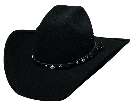 Primary image for Bullhide Country Heritage Wool Cowboy Hat Diamond Shaped Silver Conchos Black