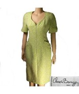 Paris france Claude Bouzoy matelasse dress med - $19.55