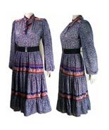 Vintage dress 70s Bernie bee Boho baby gypsy fu... - $24.45