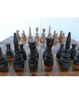 American Folk Art Wood Games Board with Chess S... - $495.00