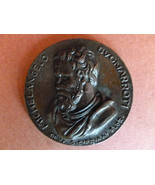 Michelangelo Italian Bronze Paperweight Medallion Mid- century C.1950-1960 - $95.00
