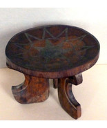 Vintage African Ethiopian Wooden Three Leg Stoo... - $189.00