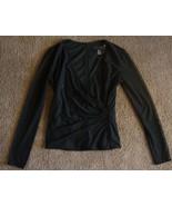 JS BOUTIQUE black SEXY Beaded V-neck Stretch Top  sz.4  EUC - $7.99