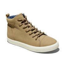 Cat & Jack Boys Tan Micro Suede Romar Zip-Up Laced Hi-Top Sneakers NWT image 1