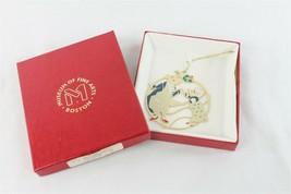 Boston Museum of Fine Art Dancing Mice Christmas Tree Ornament Gold Enam... - $19.79