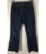 Women's Jeans Size 4 Ralph Lauren Dark Blue Classic Bootcut Embellished ... - $14.84