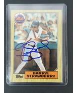1987 Topps Darryl Strawberry Autographed Baseball Card #460 New York Met... - $42.06
