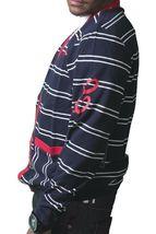 Crooks & Castles Dark Navy White Red Knit Cotton Devil Cardigan Sweater NWT image 3