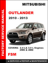 MITSUBISHI OUTLANDER 2010 2011 2012 2013 FACTORY SERVICE REPAIR WORKSHOP... - $14.95