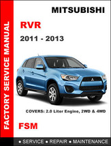 MITSUBISHI RVR 2011 2012 2013 FACTORY SERVICE REPAIR MAINTENANCE WORKSHO... - $14.95