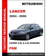 MITSUBISHI LANCER 2004 2005 2006 FACTORY SERVICE REPAIR WORKSHOP SHOP OE... - $14.95