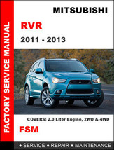 MITSUBISHI RVR 2011- 2013 FACTORY SERVICE REPAIR WORKSHOP OEM MAINTENANC... - $14.95