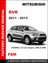 Mitsubishi Rvr 2011 2012 2013 Factory Service Maintenance Repair Workshop Manual - $14.95