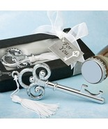 Key To My Heart Bottle Opener Wedding Favor Reception Gift Party Classic... - $3.21