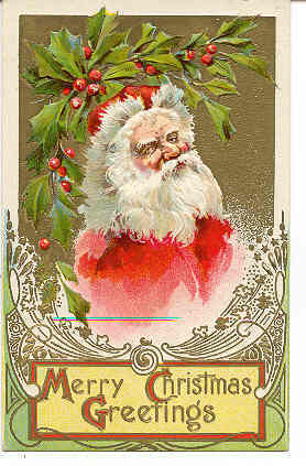 Primary image for  Christmas Greetings From Santa vintage  Post Card