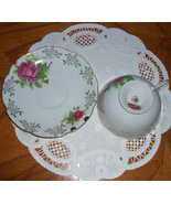 Lefton China vintage cup and saucer    Roses - $13.00