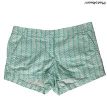 J Crew Womens Chino Shorts Size 10 Green White Herringbone Pockets - $23.76