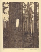 TRAIL MARKER original limited edition etching - $29.99