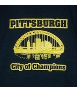 PITTSBURGH City of Champions T-Shirt black and gold - $9.99