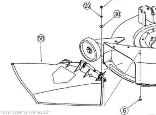 Discharge Chute Mtd Rider Mower 731 1032b And 50 Similar Items