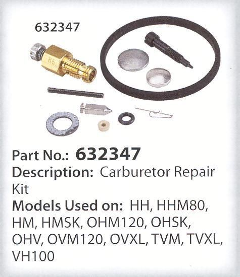 Tecumseh Carburetor REPAIR Kit HH OHV TVM HMSK80 HM70 - $18.99