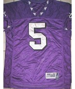 LaDainian Tomlinson #5 TCU Horned Frogs NCAA Big 12 Purple White OTF Jer... - $292.05