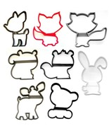 Woodland Creature Forest Animals Outlines Set of 8 Cookie Cutters USA PR... - $14.99