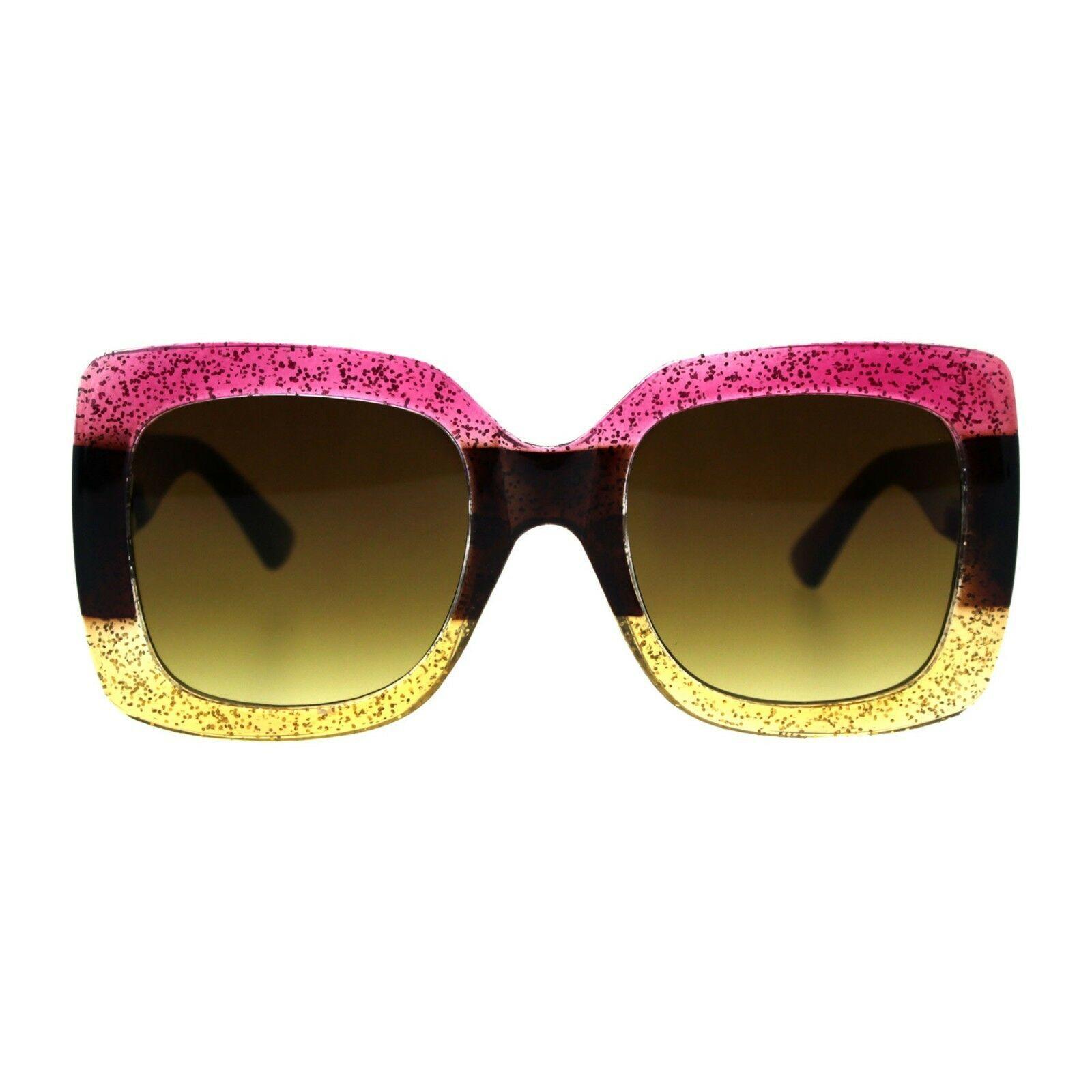 Thick Oversized Square Frame Sunglasses Womens Fashion Shades UV 400