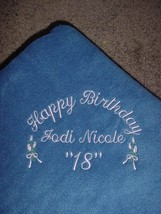 Personalized Friends Birthday Blanket Throw Gift - $45.99