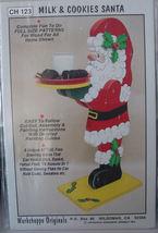 Christmas Wood Pattern Milk & Cookies Santa - $6.99