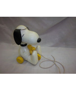 FREE Shipping SNOOPY pull toy peanuts charlie brown woodstock ears twirl... - $49.99