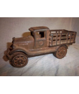 FREE SHIPPING -Antique vintage 1920's Cast Iron toy stake truck Great Es... - $125.00